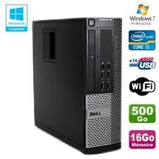 PC DELL Optiplex 790 SFF Intel core i3-2120 3.3Ghz 16 GB DDR3 500gb WIFI W7 Pro