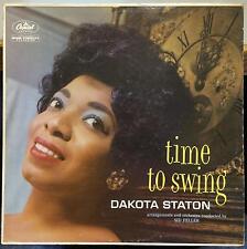 DAKOTA STATON time to swing LP VG T-1241 Capitol 1959 Mono USA Hank Jones