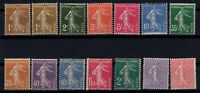 PP135321/ FRANCE STAMPS – TYPE SEMEUSE – YEARS 1924 - 1937 MINT MNH – CV 98 $