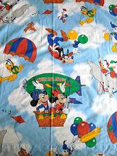 VTG 90s Disney Dumbo Mickey Minnie Goofy Mouse Fabric Curtain