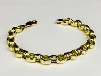 18kt SOLID Yellow Gold Rolo Link Bracelet 7.5 Inch 18 grams 7 MM