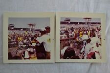 2 Vintage Color Photos Motorcycle Racing 835004