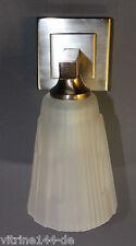 Wandlampe Art Deco Bauhaus Designleuchte silberfarben+satiniert Ausladung 12 cm