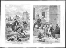 1885 el Cairo Egipto realizar Cabra & Mono-turcomano RAID Turkmenistán (046)