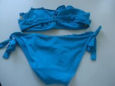 J. CREW RUFFLED BANDEAU/HIPSTER TIE BIKINI SIZE X-SMALL PANTS (NWT) TOP PREOWNED