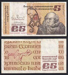 Irlanda 5 pounds 1993 BB/VF  B-10