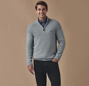 New Crew Clothing Lambswool 1/2 Zip Jumper in Size Medium