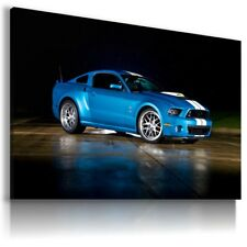 FORD MUSTANG BLUE Super Sport Car Large Wall Canvas Picture ART  AU592  MATAGA