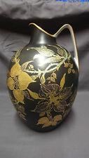 """GRUPPO di grandi dimensioni inusuali Rosenthal Classic Rose 11.75"""" Caraffa/Brocca-BLACK & GOLD"""