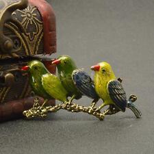 Women Men Vintage Party Jewelry Crystal Rhinestone Birds Animal Brooch Pin