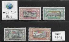 WC1_9201. IT. COL.:ERITREA. 1924 MANZONI short set. Scott 75-78. MLH