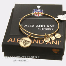 Authentic Alex and Ani Saint Louis Rams Logo Rafaelian Gold Charm Bangle