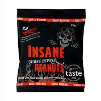 Insane Ghost Pepper Chilli Peanuts - Hot as Hell Naga Peanuts BUY 3 Get 1 FREE