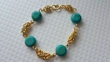 TURQUOISE AND CHAINMAILLE BRACELET.