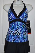 NWT Womens MIRACLESUIT Skirted Tankini SWIMSUIT by Kirkland Bathing Suit Size 14