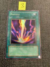 YuGiOh - Raigeki - LOB-053 - Super Rare - Unlimited Edition - MP (Lot#3)