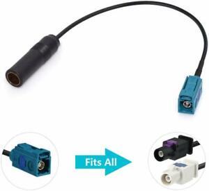 Bingfu Universal Vehicle Car Stereo FM AM Radio Antenna Adapter Cable Fakra Z Fe