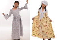 Victorian Kids Princess Dress Puritan Skirt Reenactment Carnival Costume
