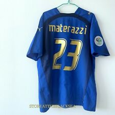 ITALY NATIONAL TEAM 2006 #23 MATERAZZI HOME FOOTBALL SOCCER SHIRT JERSEY XL