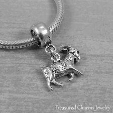 925 Sterling Silver Billy Goat Dangle Bead Charm - fits European Bracelets NEW