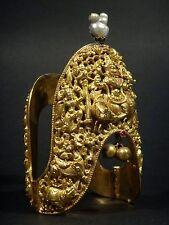 MUSEUM ANTIQUE INDIAN ASIAN TAMIL NADU VANKI ARMLET BRACELET 22K GOLD 1800's