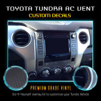 (6) Vinyl AC Vent Ring Overlay For 2014-2019 Toyota Tundra - Matte Carbon Fiber