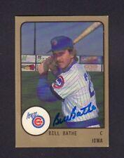 Bill Bathe 1988 Iowa Cubs Autographed Signed w/COA jh55