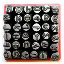 36 PC METAL LETTER AND NUMBER STAMP PUNCH TOOL SET RIDGE ROCK