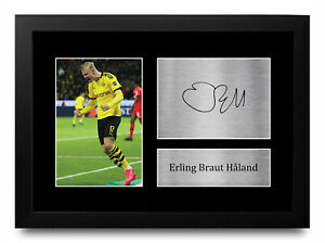 Erling Haaland A4 Borussia Dortmund Printed Autographed Picture for Football Fan