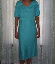 NEW PLUS Silhouettes Embellished Dress Aqua 1X