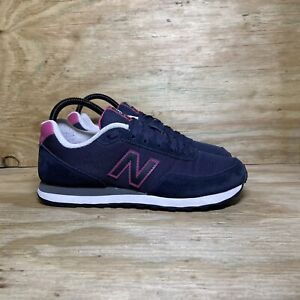 New Balance 411 Classic Sneakers, Women's Size 9, Navy Blue / Pink