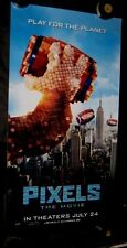 "Original PIXELS Styrene 26"" X 50""  D/S Phone Booth Poster DONKEY KONG NEW YORK"