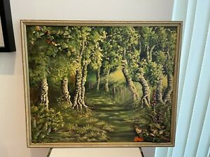 Vintage Oil painting signed 25 x21