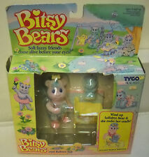#7714 NRFB Vintage Tyco Bitsy Bears Lullabye Bear & Wriggles Set