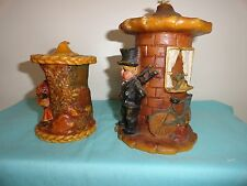 Germany hand crafted candles firured two candles vintage