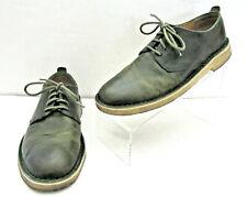 CLARKS ORIGINAL DESERT LONDON MENS 8.5 GREEN LEAF CREPE SOLES CHUKKA BOOTS SHOES