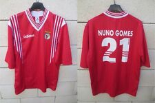 Maillot BENFICA vintage ADIDAS jersey home shirt NUNO GOMES n°21 trikot M