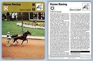 Steve Lobell - Horse Racing - 1977-9 Sportscaster Rencontre Card