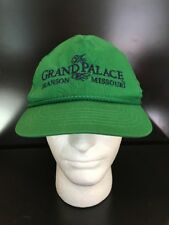 The Grand Palace Green Hat Branson MO Snapback Cap Rope Trim Distressed Vintage