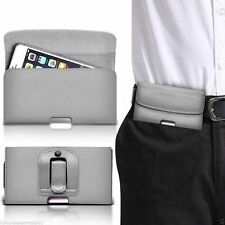 Horizontal Belt Clip Quality Pouch Holster Top Flip Case Holder✔Grey