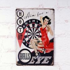 Vintage Tin Signs Pin Up Girl Hot Hit Wall Decoration Retro Metal Poster