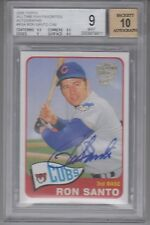 2005 Topps Fan Favorites Ron Santo On Card Autograph SP/90 BGS 9 AUTO 10 Cubs