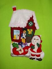 """Christmas Stocking🎄 """" Toy Shop """" Handmade Felt Applique 🎅~ Completed Finished"""