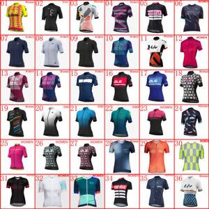 Summer Cycling Jersey Bicycle Uniform 2021 Womens Team Bike Short Sleeve Shirt
