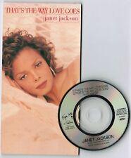 "JANET JACKSON That's The Way Love Goes JAPAN 3"" CD VJDP-10207 Jam&Lewis Free SH"
