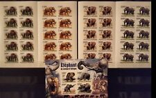 394 Briefmarken IMPF! Burundi Elefanten KB.+10-er Bogen ,postfrisch