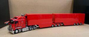 Kenworth K200 Model Truck - Prime Mover + A&B Trailer Set 1:32 - Red