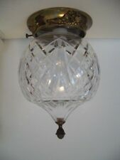 Beautiful WATERFORD Crystal GIFTWARE Large Flush Mount Ceiling Lamp Light