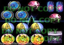 STAR TREK THE NEXT GENERATION Pinball Target Cushioned Decals (WILLIAMS)