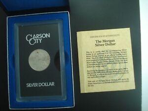 1881-CC Morgan Silver Dollar $1 Coin in GSA Holder w/ Box & COA **NO RESERVE**